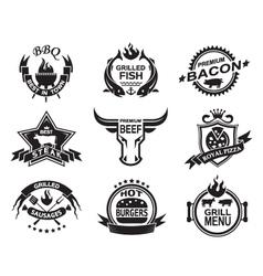 Restaurant designs vector image vector image