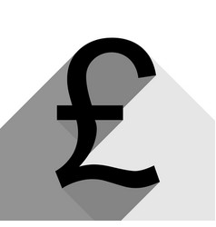 turkish lira sign black icon with two vector image