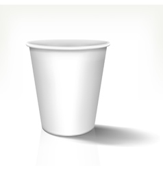 White realistic paper cup in front view vector image vector image