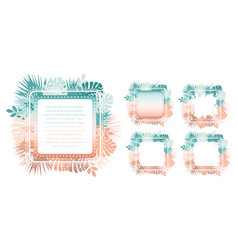 Abstract trendy template with gradient backgrounds vector