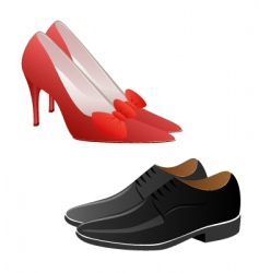 fashion shoes vector image
