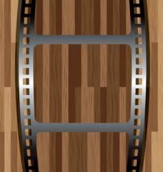 film wood vector image vector image