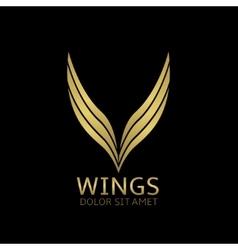 Golden Wings vector image vector image