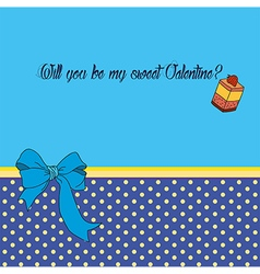 Greeting card for saint valentines day vector