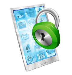 lock icon phone security concept vector image