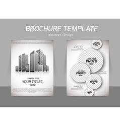 Realt estate flyer vector image