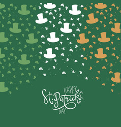 St patricks day background clover leafs and vector