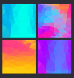 a set multicolor polygon triangle triangular vector image