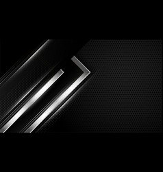 Abstract black and silver wallpaper design vector