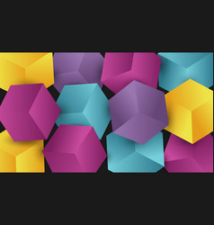 abstract colorful 3d box background vector image