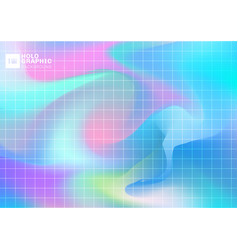 abstract holographic iridescent smooth background vector image