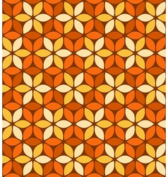 Abstract orange floral pattern vector
