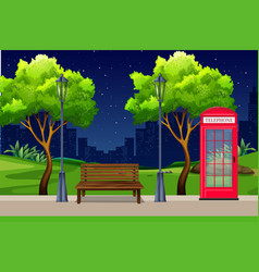 an urban park at night vector image