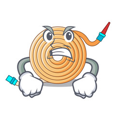 Angry water hose to extinguish the fire vector