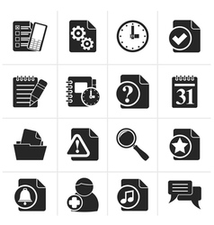 Black organizer communication and connection icon vector