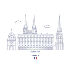 Bordeaux city skyline vector