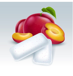 Chewing gum with plum flavor vector