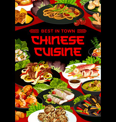 Chinese cuisine asian china food meals vector