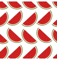 Colorful pattern with slice watermelon vector