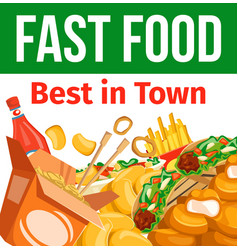 combo meals cafe bistro menu takeaway fastfood vector image