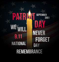 concept design for patriot day with flag usa vector image