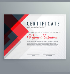 Creative certificate of achievement award vector