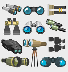 Different design binocular glasses look-see vector