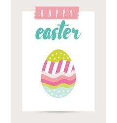 Easter card festive background element vector image