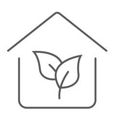 eco house thin line icon real estate and home vector image
