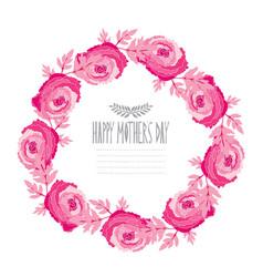 Elegant floral wreath vector