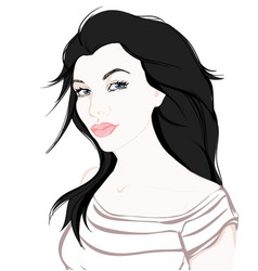 fashion girl on white background hand drawn vector image