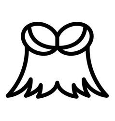 Festive bra icon outline style vector