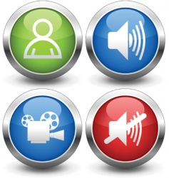 film buttons vector image