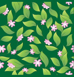 flowery seamless background 2 vector image