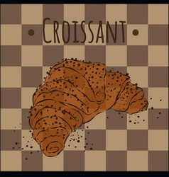 Fresh and crispy croissant golden vector