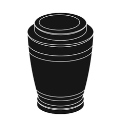 Funeral urns icon in black style isolated on white vector image