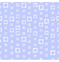 Gentle blue pattern with white squares vector image