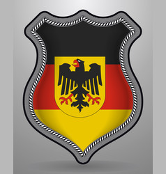 germany flag with coat of arms badge and icon vector image