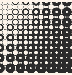 Halftone seamless pattern with circles and squares vector