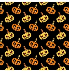 Halloween slanted pattern with pumpkins vector image