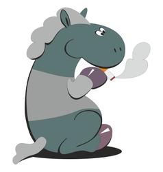 Horse smokes 007 vector