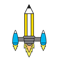 idea working pencil vector image