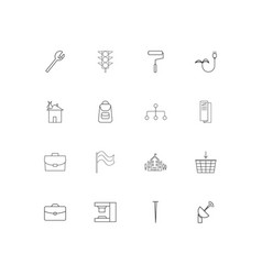industry linear thin icons set outlined simple vector image