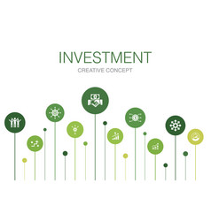 Investment infographic 10 steps templateprofit vector