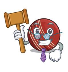 Judge cricket ball in character column vector