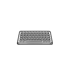 Keyboard hand drawn outline doodle icon vector