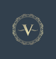 letter v logo design templates and monogram vector image