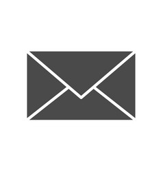 mail solid icon vector image