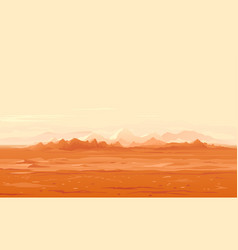 Martian surface panorama landscape vector