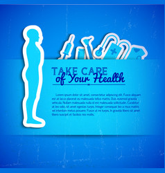 medical concept with text field vector image